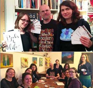 Der neue Vorstand von Books4Life Wien: Maria, Gernot und Jette