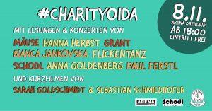 CharityOida! 4 Lesungen, 4 Konzerte am 8.11. in der Arena Wien